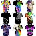 Star Wars gato 3D t shirt Colorful león impresión de camisetas mujeres hombres inconformista Tees Animal 3D camisetas camisetas Casual Tops