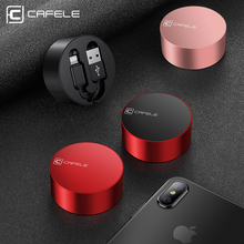 CAFELE Luxury Retractable Cable For iphone X Xr Xs Max 8 7 ipad Fast Charging Alloy Usb cable Charger Data sync Cable For IOS 12 baseus new era cable 8 pin adjustable usb cable retractable telescopic fast charge data sync line for ios 8 9 10 black
