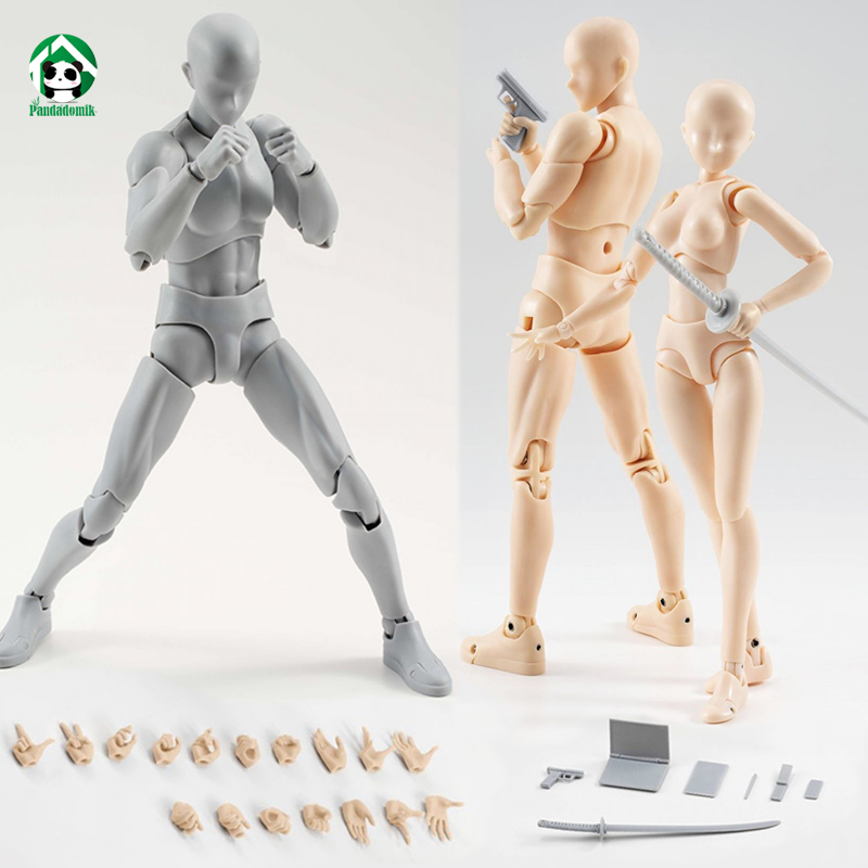 New Body Action Figure Reference Dolls for Drawing PVC Models Kids font b Toys b font