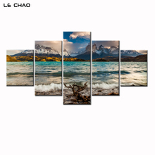 ФОТО Wave Canvas Art Wall Picture for Living Room Beach Print Canvas Painting Modular Wall Painting Posters and Prints Drop