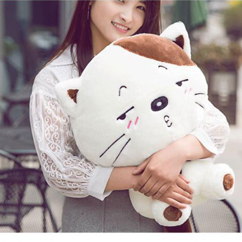 PP Cotton Cat 120cm Include Tail Lovely Cat Plush Stuffed Toys Pillow Birthday Gift Cushion Fortune Cat Doll Pusheen Plush Toys sozzy baby bed educational plush toys infant music toy bells blue girls birthday gift kid pillow soft pp cotton toys