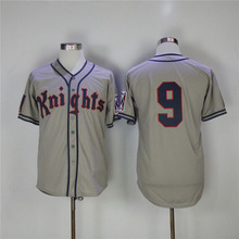cd59aa9bd19 do dower Gray White 9 Roy Hobbs New York Knights Natural Movie Redford  Stitched