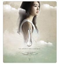 Korean TV Drama 49 Days Tear Drop Necklace