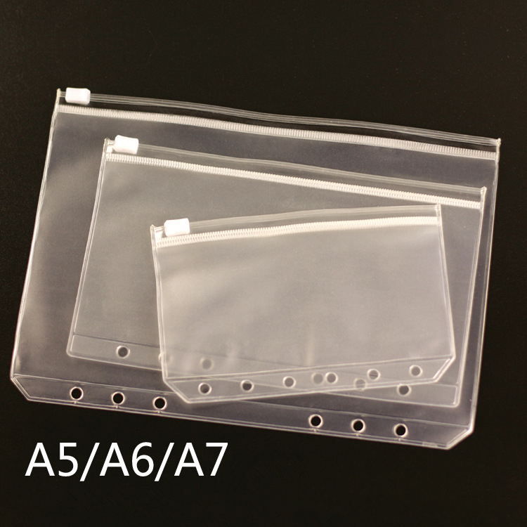 Transparent  File Bag A5 A6 A7 PVC Pouch Card Bills Bags Notepad Pocket Document Bag