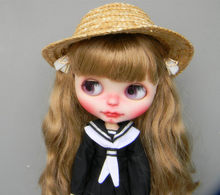 Envío Gratis sombrero de paja hecho a mano para Blythe muñeca pullip dal  jerryberry 1 3 BJD muñecas muñeca Accesorios 6c5117fd29f