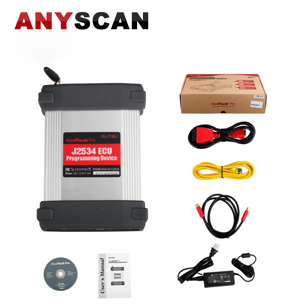 Free Shipping 100% Original AUTEL MaxiFlash Pro Reprogramming Tool J2534 ECU Programming Device MaxiFlash Pro autel maxisys elite car diagnosis j2534 ecu programing tool faster than ms908p 908 pro free update 2 years on autel website