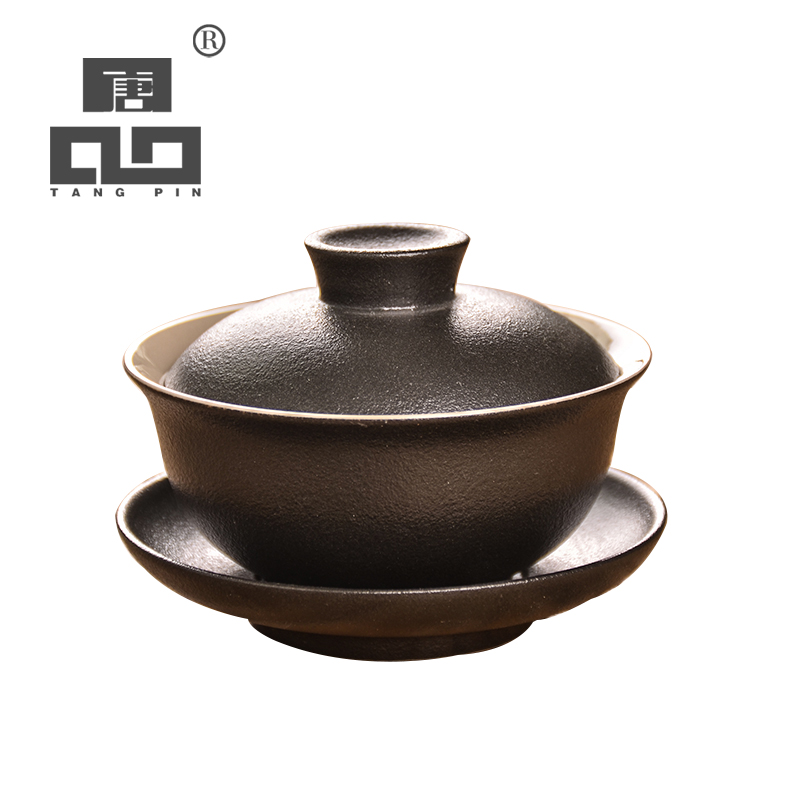 TANGPIN Black Japanese Ceramic Teapot Gaiwan Tea Cup Ceramic Tea Sets Kung Fu Tea Set 100ml
