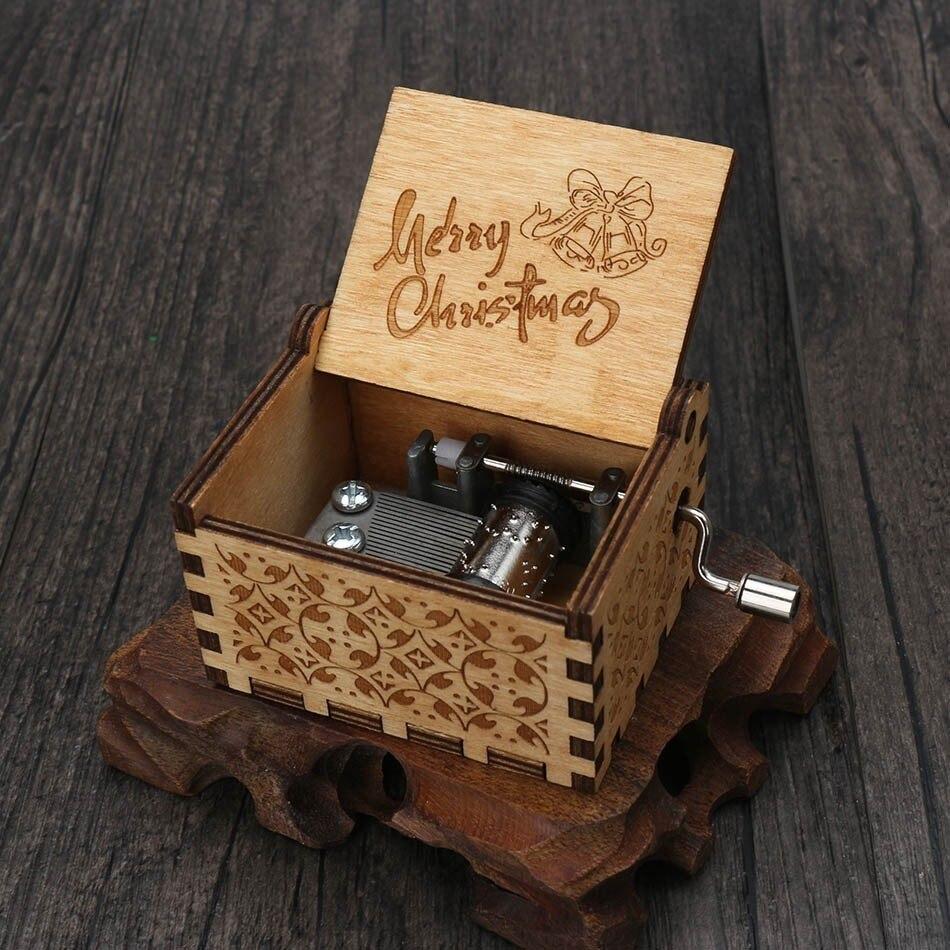 Прямая, деревянная музыкальная шкатулка ручной работы, рисунок Звездные войны, Juego De Tronos, рождественский подарок, подарок на год, подарок на день рождения - Цвет: 20