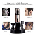 Kemei 4-in-1 Multifunctional Rechargeable Nose&Ear Hair Trimmer Cordless Hair Removal Shaving Machine for Beard Sideburn Eyebrow
