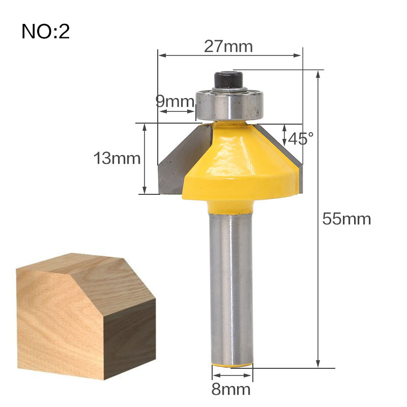 Image 4 - 1Pc 8mm Shank Straight End Mill Cleaning Flush Trim Tenon Cutter For Woodworking Corner Round Cove Box Router Bits Top Qualuty-in Milling Cutter from Tools