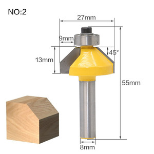 Image 4 - 1Pc 8mm Shank Straight End Mill Cleaning Flush Trim Tenon Cutter For Woodworking Corner Round Cove Box Router Bits Top Qualuty
