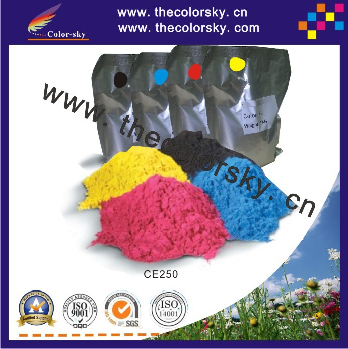 (TPHHM-CE250) premium color toner powder for HP LaserJet CM 3530 3531 CM3531 CP 3525 CP3525n CP3525dn bkcmy 1kg/bag Free fedex
