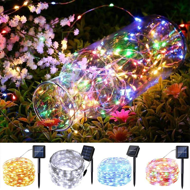 Delightful Colors And Exquisite Workmanship Ingenious 150 Led Solar Christmas Fairy String Lights 15m Waterproof Home Wedding Party Decor Guirlande Lumineuse Exterieur Lichterkette Famous For Selected Materials Novel Designs