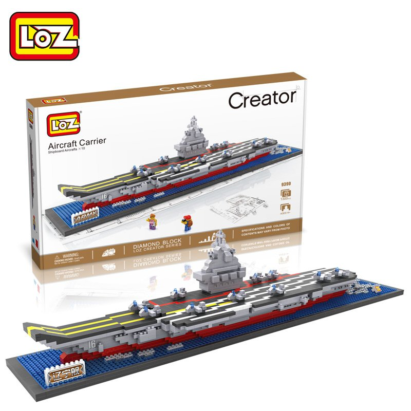Aircraft Carrier Liaoning 3D Diamond Building Blocks Aircraft Carrier Boat LOZ Mini Nano Bricks Children Intelligence Model Toys loz diamond blocks figuras classic anime figures toys captain football player blocks i block fun toys ideas nano bricks 9548