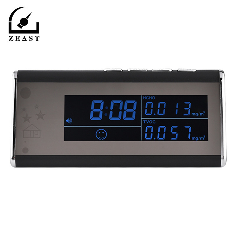 Air detection Clock Gas Analyzers + HD 1080P WiFi Night Vision IP H id den Camera Cam DVR NVR DV With User Manual
