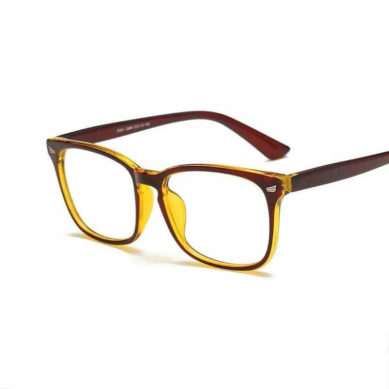 Sexy violet lunettes cadre carré lunettes cadre clair lentille myopie Nerd noir lunettes de soleil deux tons Rivet lunettes cadres femmes