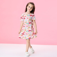 Kids girl dress summer 2019 new princess dress cartoon girls party dress children clothes kids dresses for girls 1 2 3 4 5 years new 2017 summer autumn girl dress stripe cartoon cute children dresses side 2 pockets cotton vestidos girls clothes kids costume