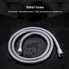 1.2M-2M Shower Head Hose Handheld Extra Long Stainless Steel Bathroom Flexible Pipe stylish metal handheld straight round stick shower head w flexible stainless steel tube silver