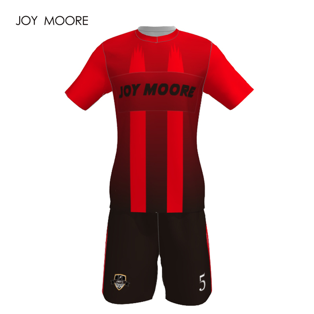 7b985858c 2018 home away custom soccer uniform red and black color women soccer jersey  big sizes