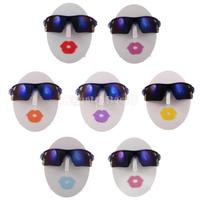 7pcs Set Chic Female Head Glasses Sunglasses Spectacle Display Stand Holder Rack Organizer Case