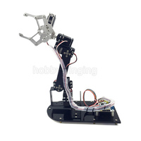 5 DOF רובוט מתכת סגסוגת בערכת טופר מהדק לarduino רובוטית זרוע מכאנית חינוך