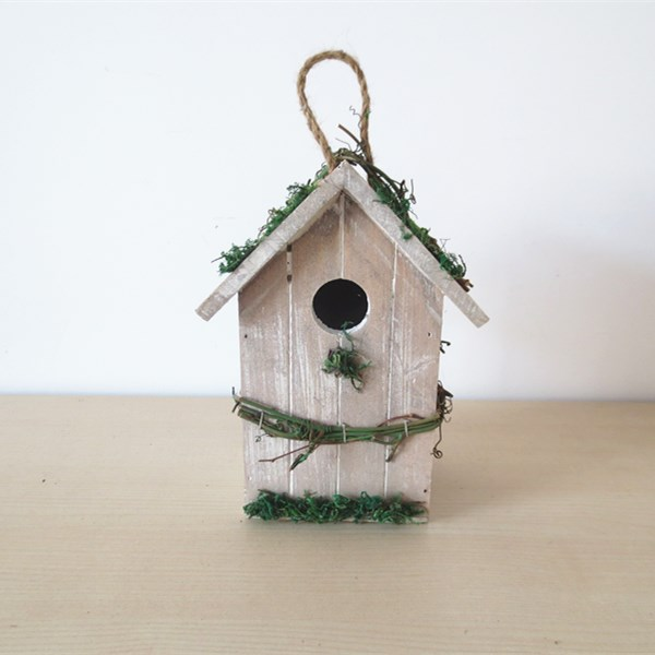 Wooden Bird House Wood Bird Nest Garden Decoration Bird