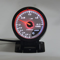 60MM White face Boost gauge Red & White Lighting 1-2 kpa/Turbo Boost Pressure Reading Car Meter With Sensor/Auto Gauge