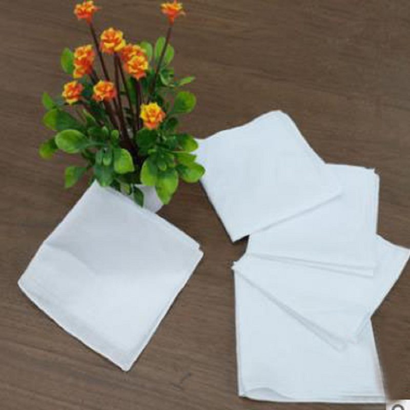 24pcs 29cm*29cm Children's Cotton Pure White Handkerchief