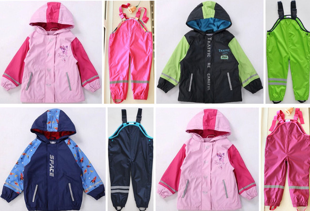 Child winter windproof rainproof high quality LUPILU outerwear topolino mouse trousers waterproof set Windproof waterproof suit