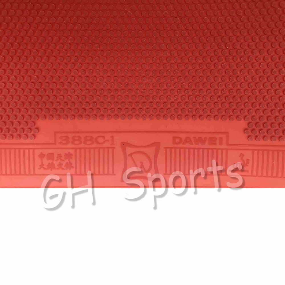 Hearty Meteor 71-2 Medium Pips Out Table Tennis Rubber Top Sheet Without Sponge Racquet Sports