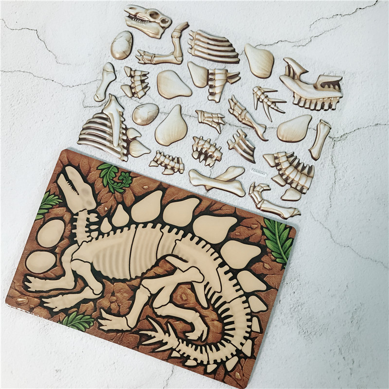 Jurassic Dinosaur Puzzle Children Simple Puzzle Toy 3D Assembly Enlightenment Kid Toy