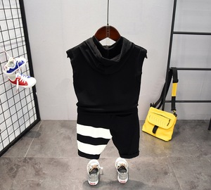 Image 3 - תינוק בני בגדי סטי קיץ כותנה מכתב מודפס ילד סטי 2PCS T חולצה + ילדי מכנסי חליפת 2 6years