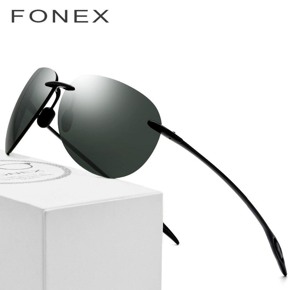 Gafas de sol Ultem TR90 sin montura para hombre ultraligero 2018 hombre  gafas de sol de Aviador de alta calidad espejadas de aviación para mujer  lentes de ... 934f71785656