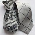 Corbatas mans moda caliente únicas rayas plaids corbata corbata fábrica venta al por mayor
