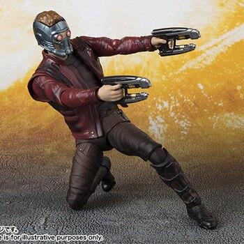 Marvel Мстители Звездный лорд 15 см SHFiguarts стражи Галактики BJD Фигурки игрушки