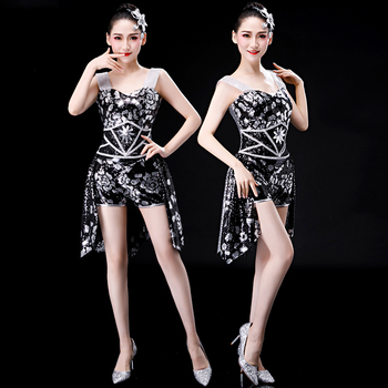 2020 jazz dance stage costumes for singers hip hop dance costume sexy stage wear stage dress for singer