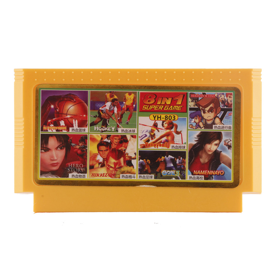 Classic games 8 in 1 Best Child Gift 8 bit Game Card for Video Game Console Memory Card