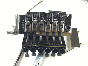Image 4 - Original Genuine GOTOH GE1996T Locking Tremolo System Bridge Without Locking Nut ( Chrome Black Gold ) MADE IN JAPAN