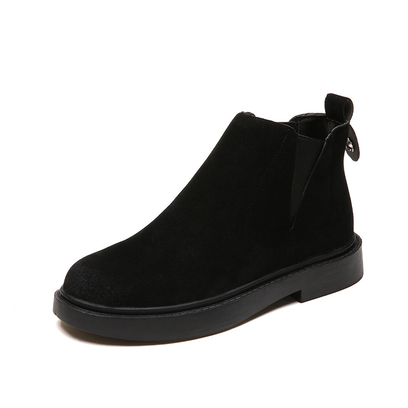 Botas Otoño Mujeres Clásico 40 De 35 Británicas 2018 Tobillo Invierno Negro Mujer Moda gris Zapatos Martin 4FRtAInxq