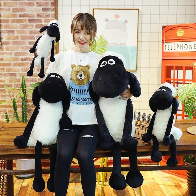 QWOK Stuffed & Plush Animals Cotton Sheep Shaun Plush Dolls Valentine's Day Gift for Girls Kids Toy 25-70cm