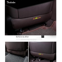 Tonlinker Cover Case Stickers for Lexus RX200t 450h NX ES 2016 Accessories 2 PCS Car Styling PU leather back seat anti-kick pad