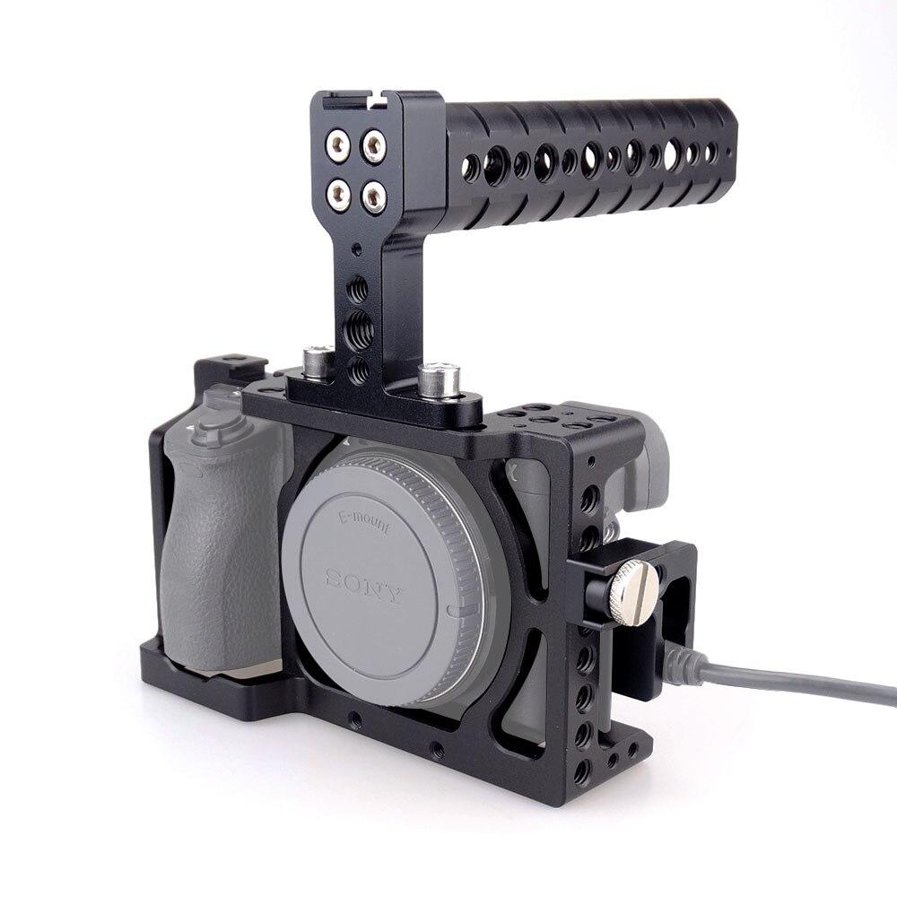 MAGICRIG DSLR Caméra Cage Kit Stabilisateur + Top Handle Grip pour Sony A6000/A6300/A6500/ILCE-6000/ ILCE-6300 NEX7-503