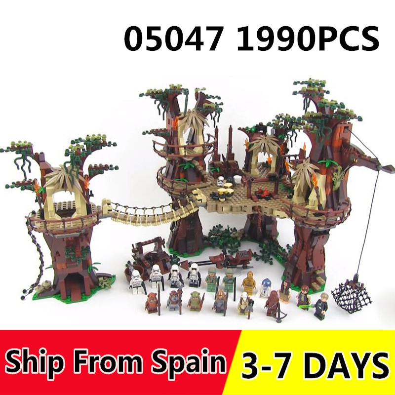 05047 1990PCS Building Blocks Star Plan Wars Ewok Village toys Bricks Figures Compatible with 10236