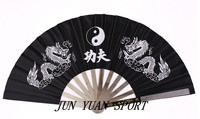 High Quality Chinese Dragon Stainless Steel Frame Tai Chi Martial Arts Kung Fu Fan Stainless Steel