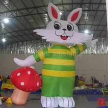 Фотография Lovely good quality Easter decoration giant inflatable Easter bunny/inflatable Easter rabbit for home yard