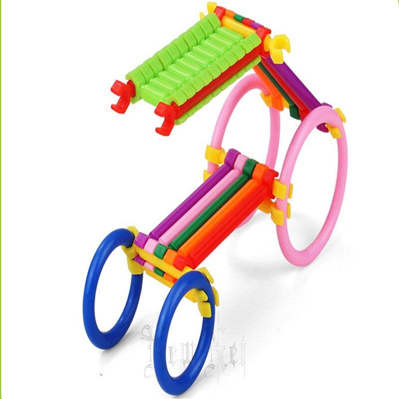 150Pcs/Lot Assembled Building Blocks DIY Smart Stick Plastic Blocks Imagenation and Creativity Educational Learning Toys
