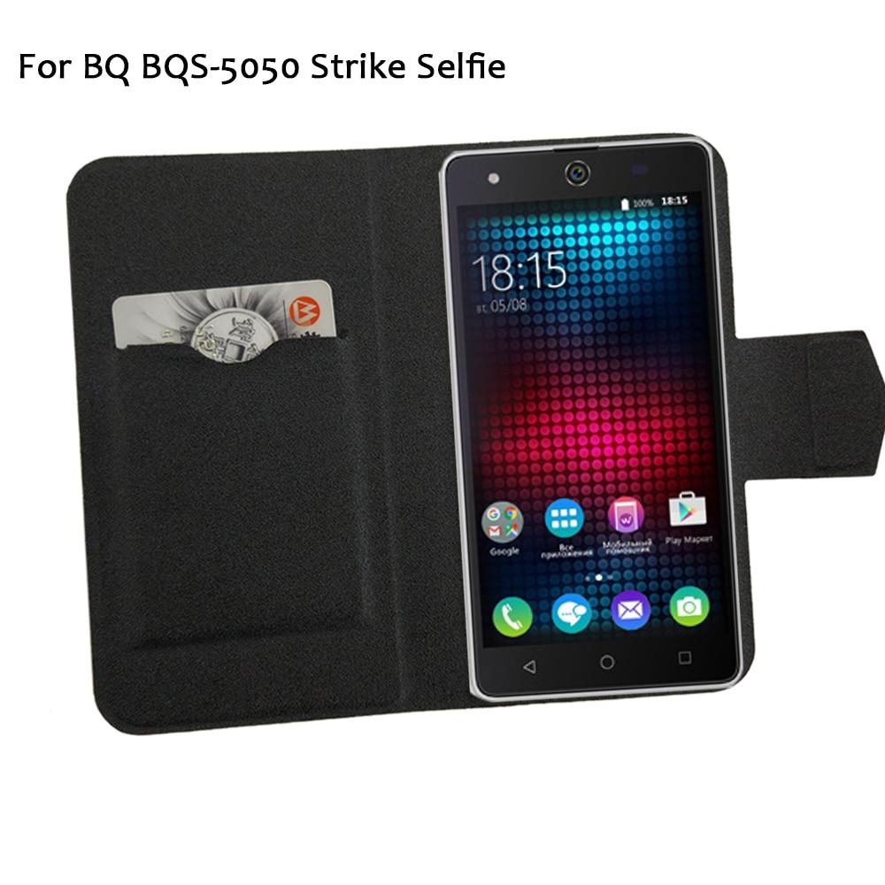 5 barev Hot! BQ BQS-5050 Strike Selfie Pouzdro na telefon Kožené pouzdro, Přímá Luxusní Luxusní Full Flip Stand Kožená pouzdra na telefon