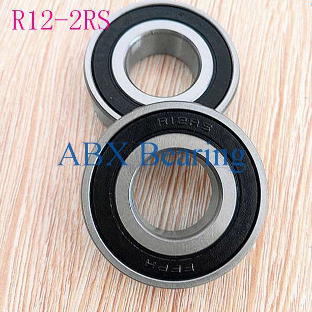 Free Shipping 2pcs R12-2RS R12 Ball Bearing 19.05x41.275x11.112mm Inch Miniature Bearing 3/4