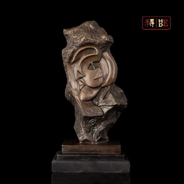 Abstract art bronze sculpture Home Furnishing office software installed xunlight ornaments Picasso DS-431
