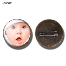 Brooches Custom-Pin Personality Photo Gift for Family Moom-Lover of Your-Friends Vintage